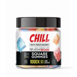 Chill Chill Plus Delta Force Squares Gummies - 1000X