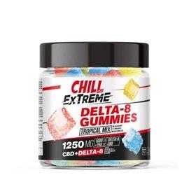 Chill Chill Plus CBD & Delta-8 Extreme Tropical Mix Gummies - 1250X