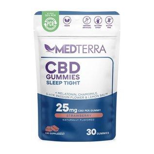 MedterraCBD Medterra CBD Sleep Tight Strawberry Gummies, 25mg, 30ct