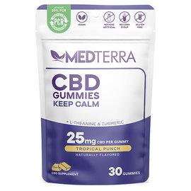 MedterraCBD Medterra CBD Keep Calm Tropical Fruit Gummies, 25mg, 30ct