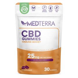 MedterraCBD Medterra CBD Immune Boost Elderberry Gummies, 25mg, 30ct