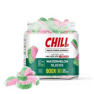Chill Chill Plus Delta Force Watermelon Slices Gummies - 800X