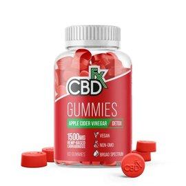 cbdFX CBDfx Hemp Gummies - Apple Cider Vinegar Detox - 1500mg - 60ct Bottle
