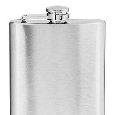 True Brands Stainless Steel Flask, 6 oz.