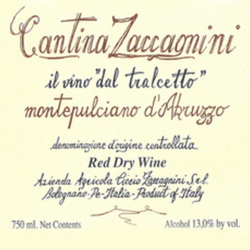 Cantina Zaccagnini Montepulciano d'Abruzzo 2017