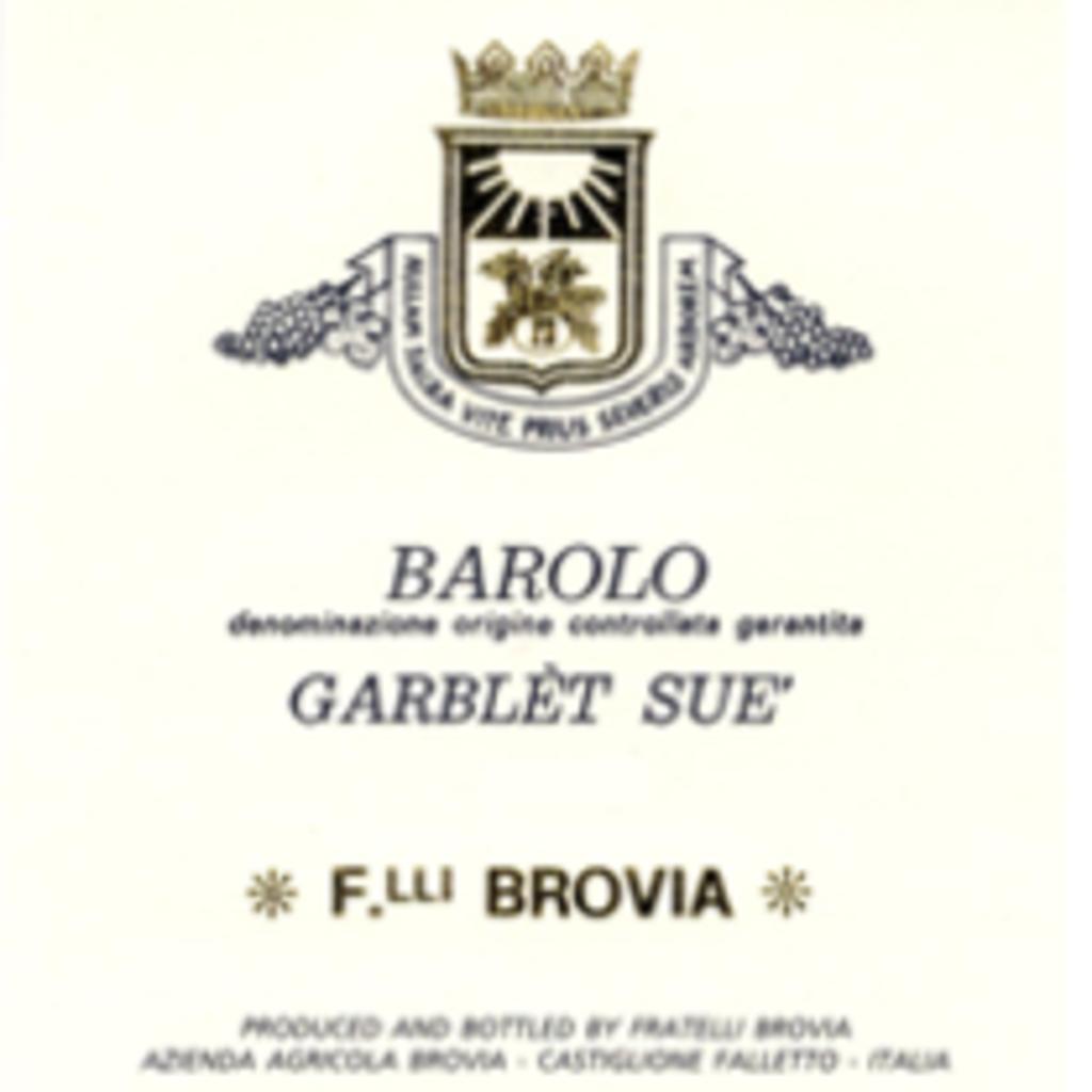 Brovia Garblet Sue Barolo 2015