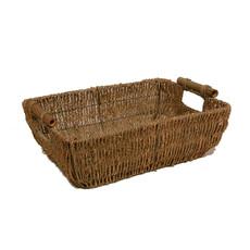 Bin 604 Wine + Spirits Kalani Large Sea Grass with Bamboo Handle Gift Basket