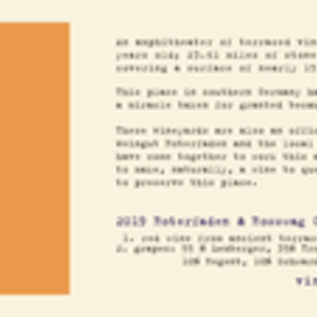 Roterfaden Vineyard Project 002 'Terraces' Red 2019