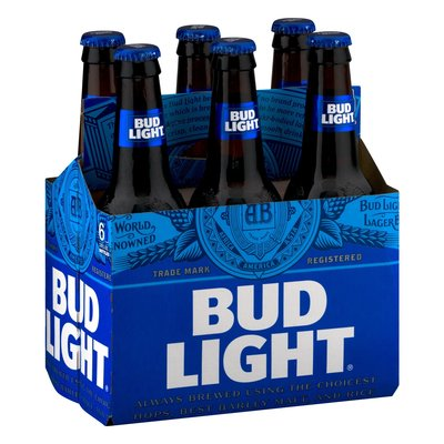Bud Light, 6-Pack Bottle
