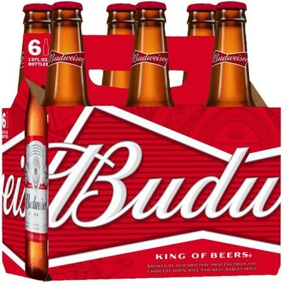 Budweiser, 6-Pack Bottle