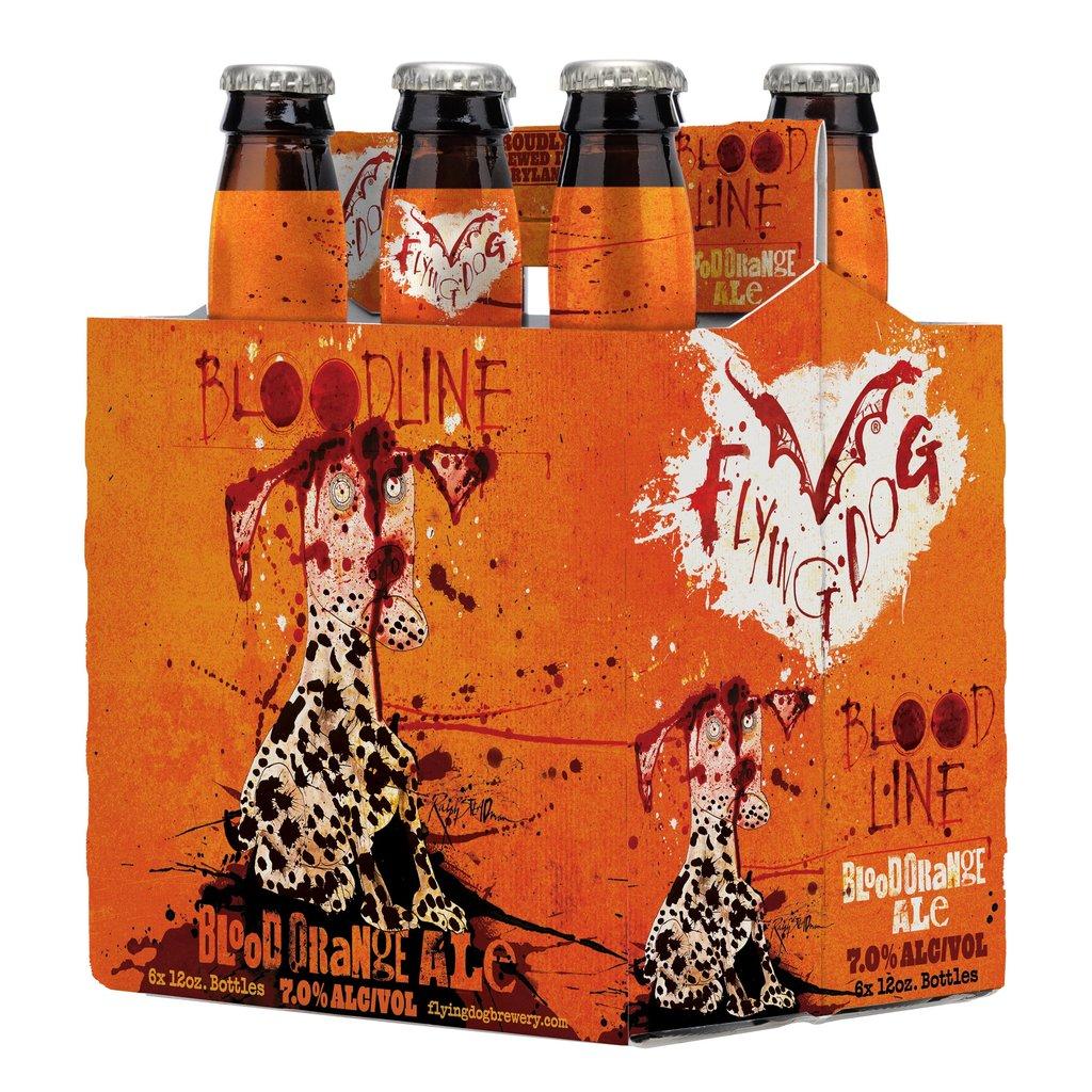 """Flying Dog """"Bloodline"""" Blood Orange Ale 6-Pack Bottles"""