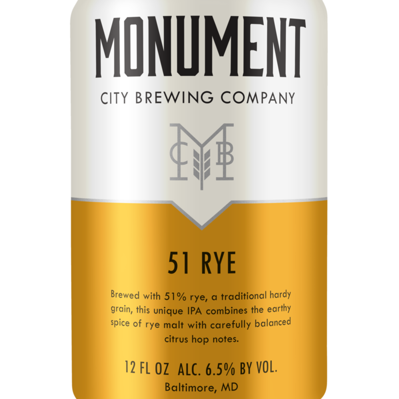 Monument City Brewing 51 Rye, 6-Pack