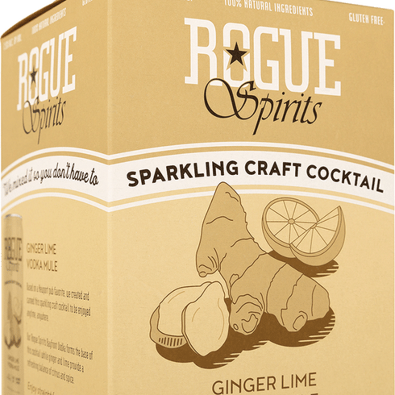 Rogue Ginger Lime Vodka Mule 4-Pack
