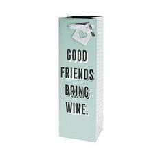 Cakewalk Good Friends Bring Wine Single Bottle Gift Bag