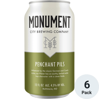 Monument City Brewing Penchant Pils, 6-Pack