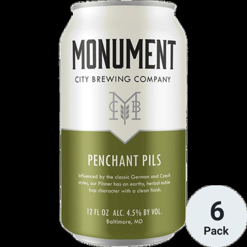 Monument City Brewing Penchant Pils, 6-Pack
