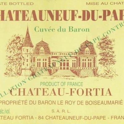 """Chateau Fortia """"Cuvee du Baron"""" Chateauneuf-du-Pape 2017"""