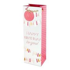 Cakewalk Happy Birthday Tassel Garland Single Bottle Wine Gift Bag