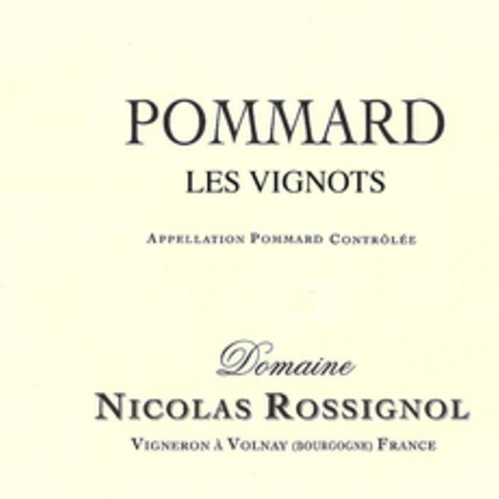 """Nicolas Rossignol """"Les Vignots"""" Pommard 2016"""