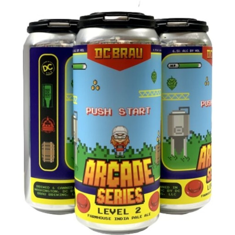 DC Brau Arcade Series Farmhouse IPA 4-Pack