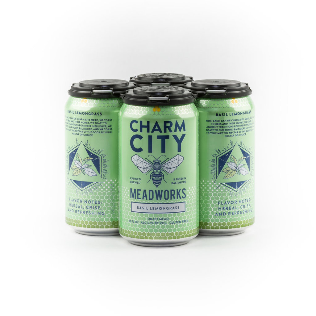 Charm City Meadworks Basil Lemongrass 4-pack