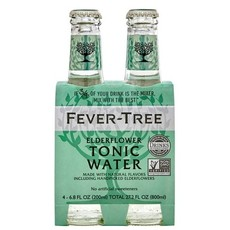 Fever Tree Elderflower Tonic Water 200mL 4-Pack