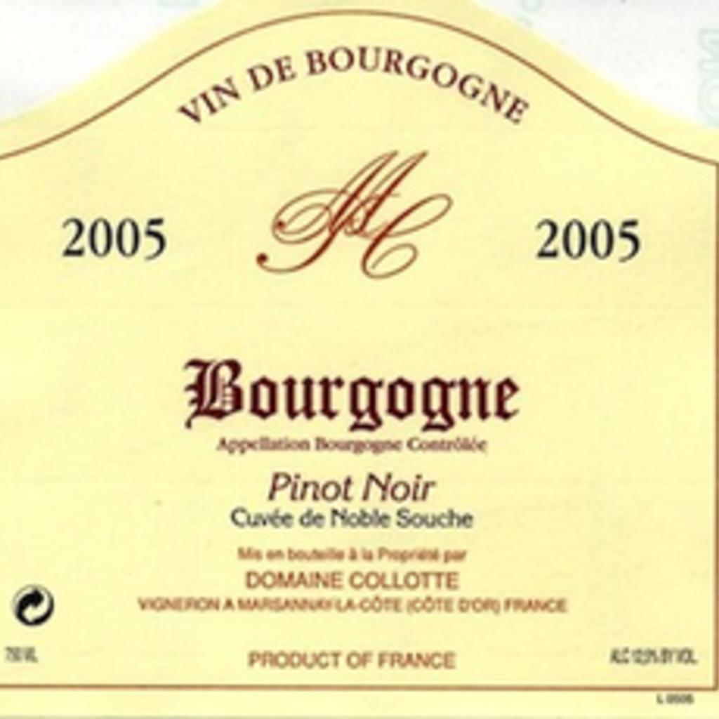Collotte Bourgogne Pinot Noir Cuvee Noble Souche 2018