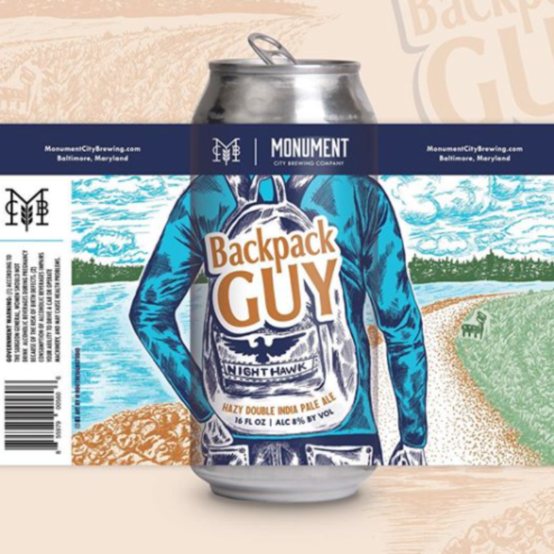 Monument City Brewing Backpack Guy Hazy Double IPA 4-Pack