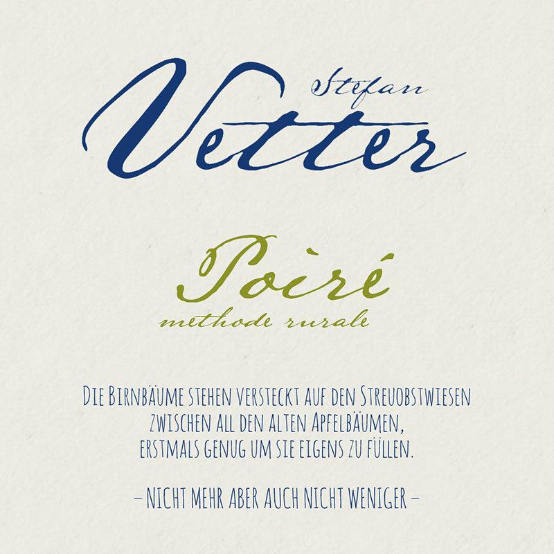 Stefan Vetter Poire Cider