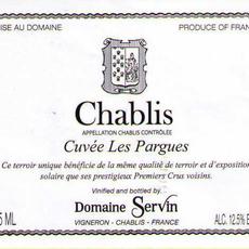 Servin Les Pargues Chablis 2018 375mL