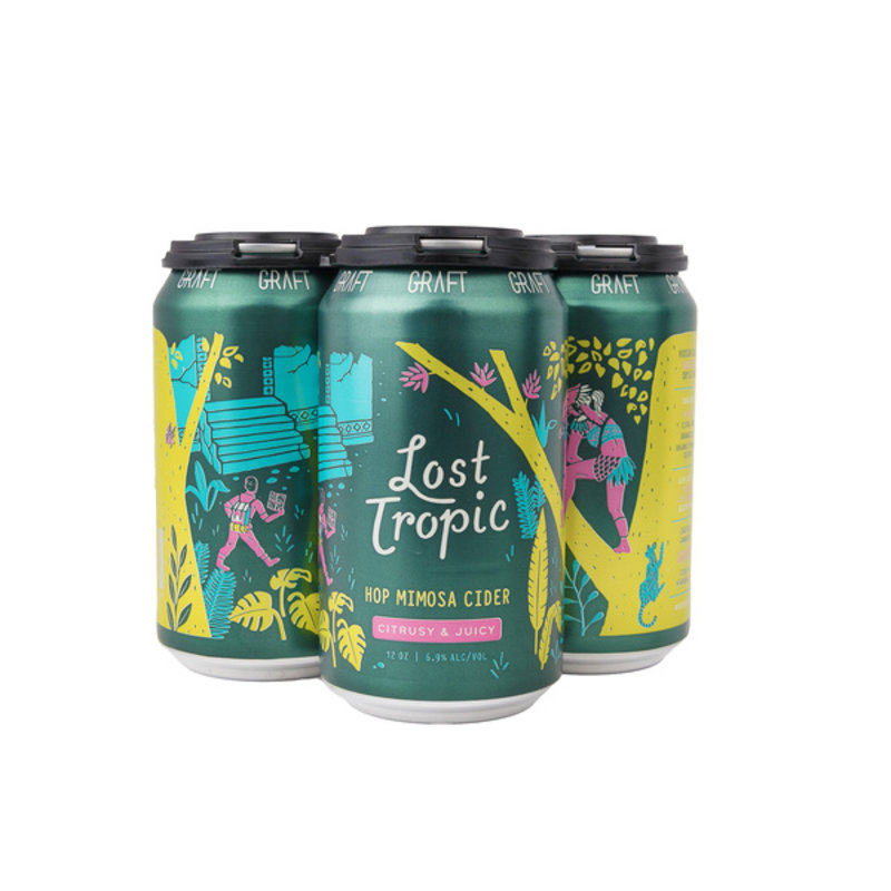 """Graft """"Lost Tropic"""" Hop Mimosa Sour Cider 4-Pack"""