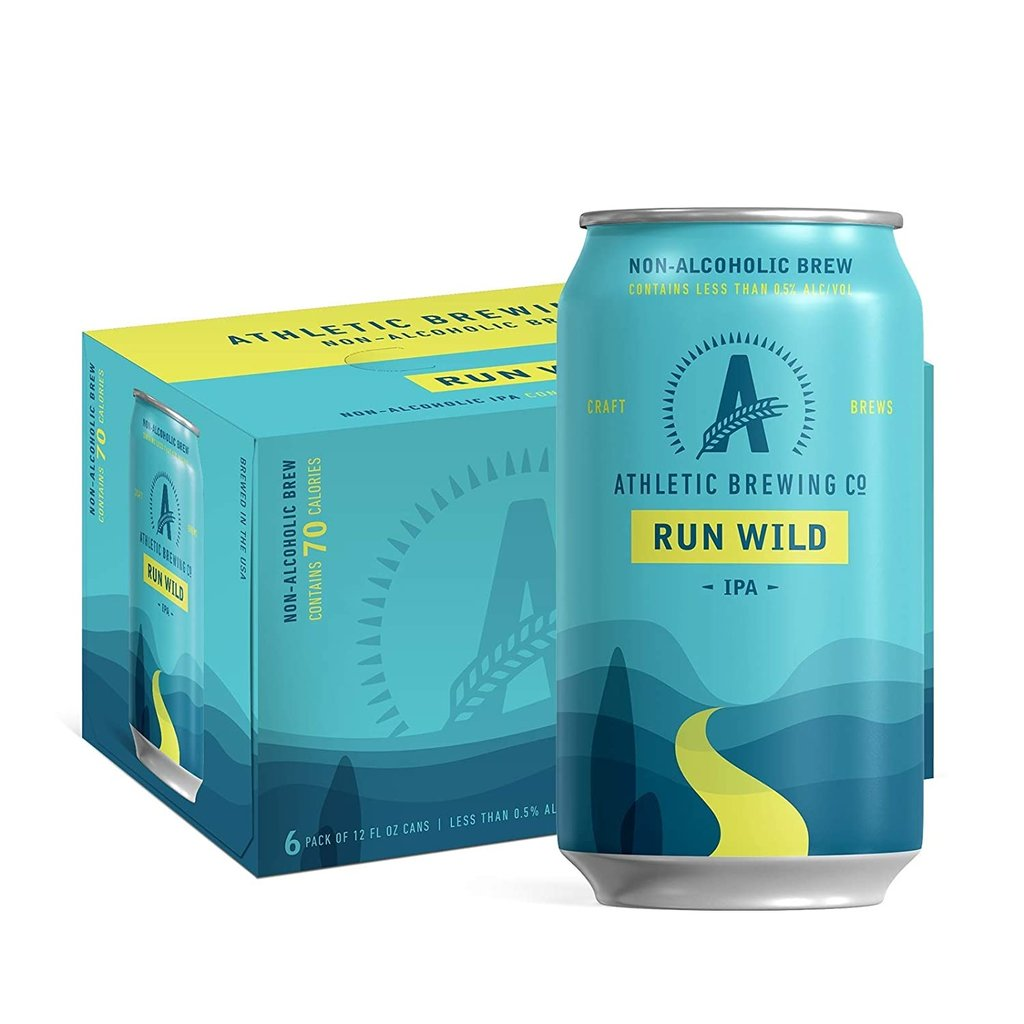 """Athletic Brewing Company """"Run Wild"""" Non-Alcoholic IPA 6-Pack"""