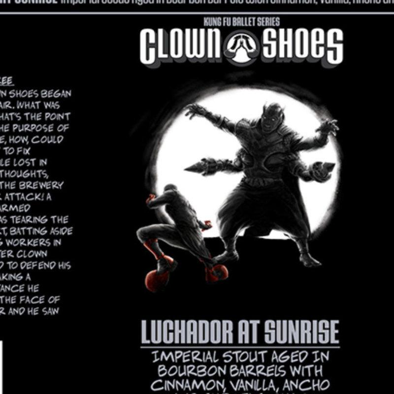 "Clown Shoes ""Luchador at Sunrise"" Imperial Stout Pint"