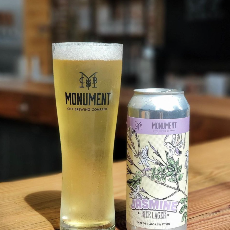 Monument City Brewing Jasmine Rice Lager 4-Pack