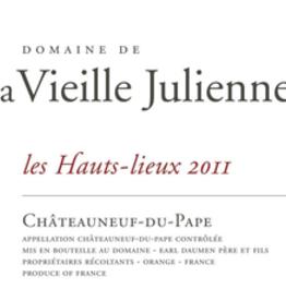 Domaine de la Vieille Julienne les Hauts-lieux CdP 2017