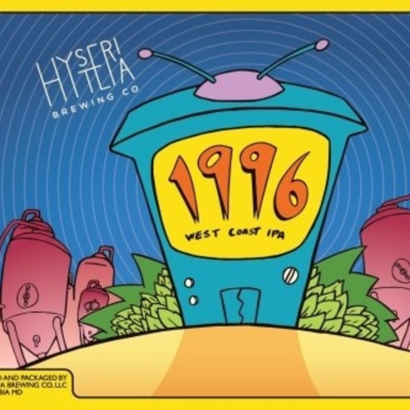 Hysteria Brewing 1996 West Coast IPA 6-Pack