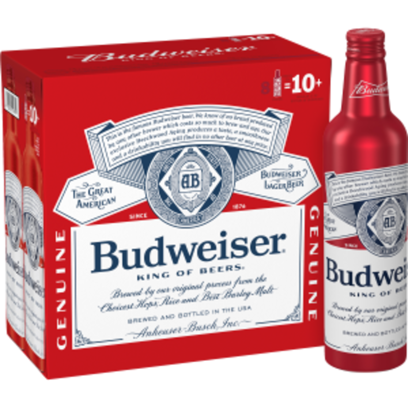 Budweiser 8-Pack 16oz Aluminum Bottles
