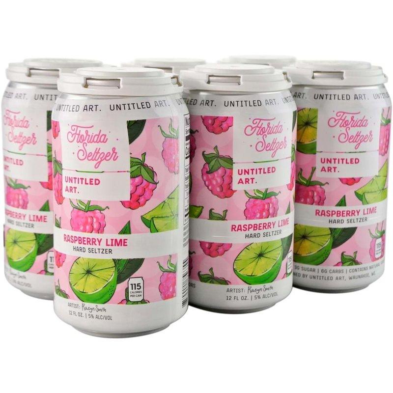 "Untitled Art ""Raspberry Lime"" Florida Selzter 6-pack"