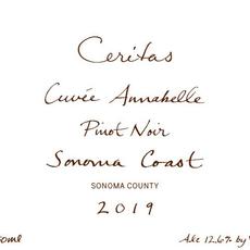 "Ceritas ""Cuvee Annabelle"" Sonoma Coast Pinot Noir 2019"