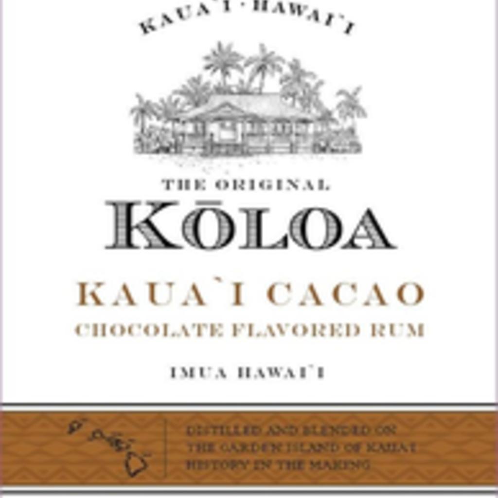 Koloa Kaua'i Cacao Chocolate Flavored Hawaiian Rum