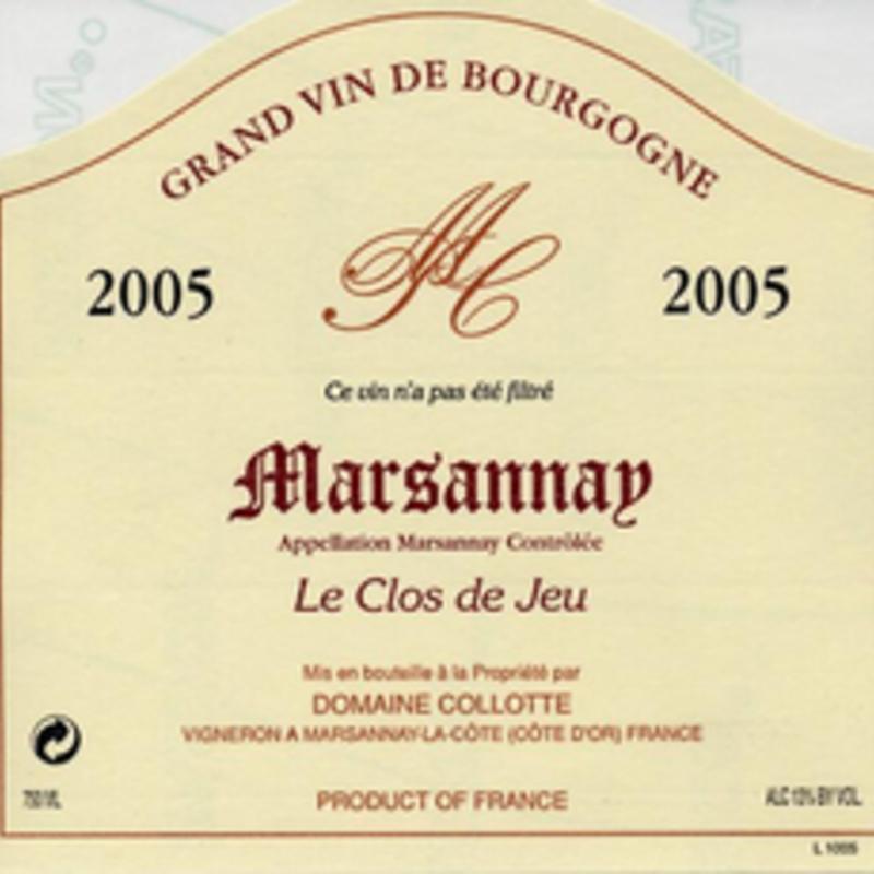 """Domaine Collotte """"Le Clos de Jeu"""" Marsannay 2018"""
