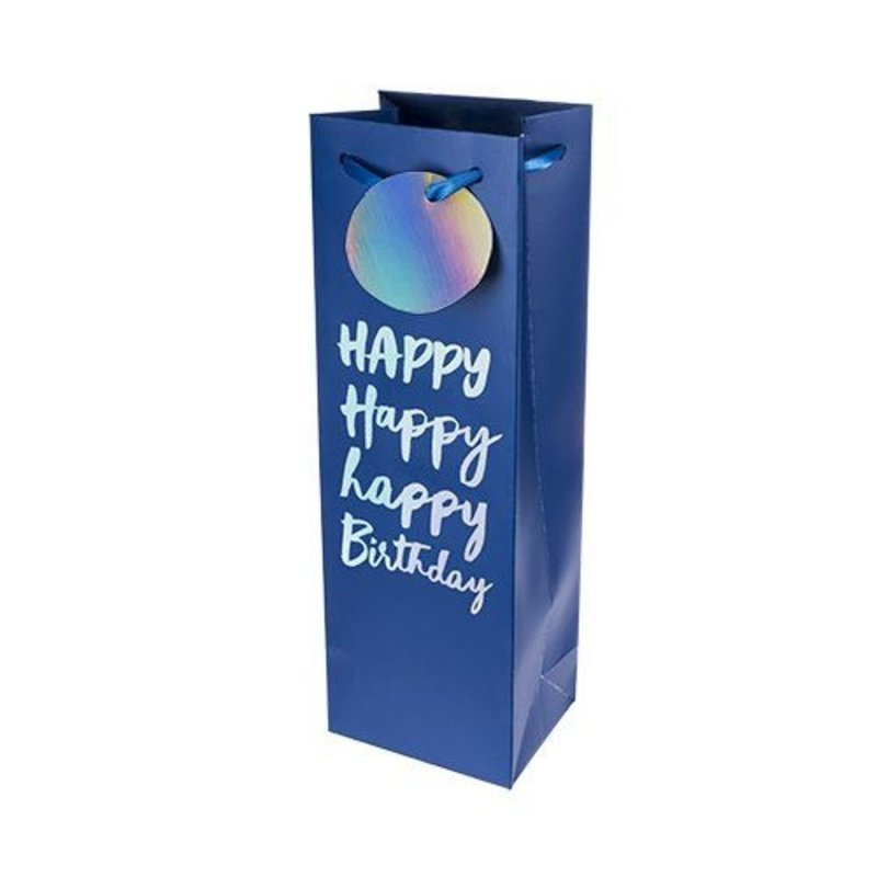 Cakewalk Very Happy Birthday Single Bottle Wine Bag