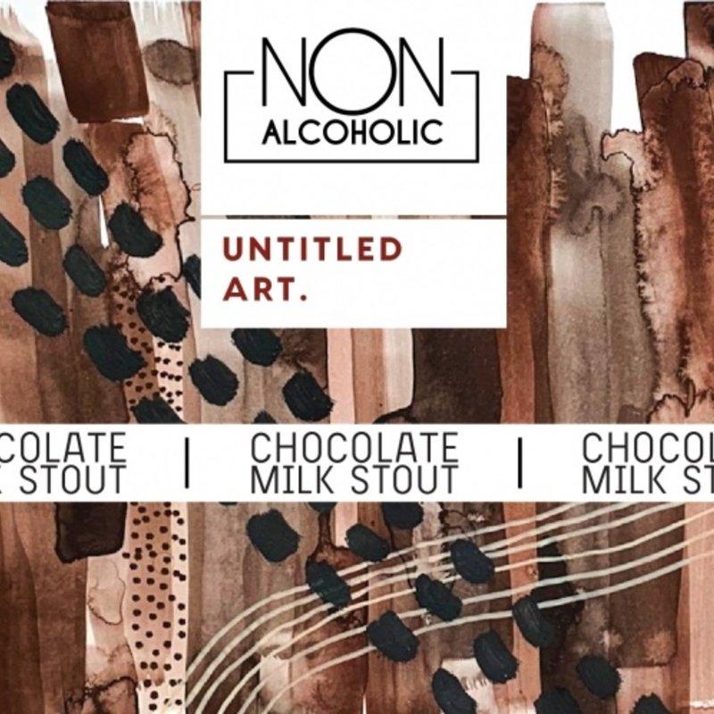 Untitled Art Chocolate Milk Stout Non Alcoholic Malt Beverage 4pack