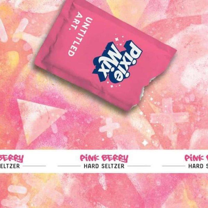 "Untitled Art ""Pixie Mix"" Pink Berry Hard Seltzer 4pack"