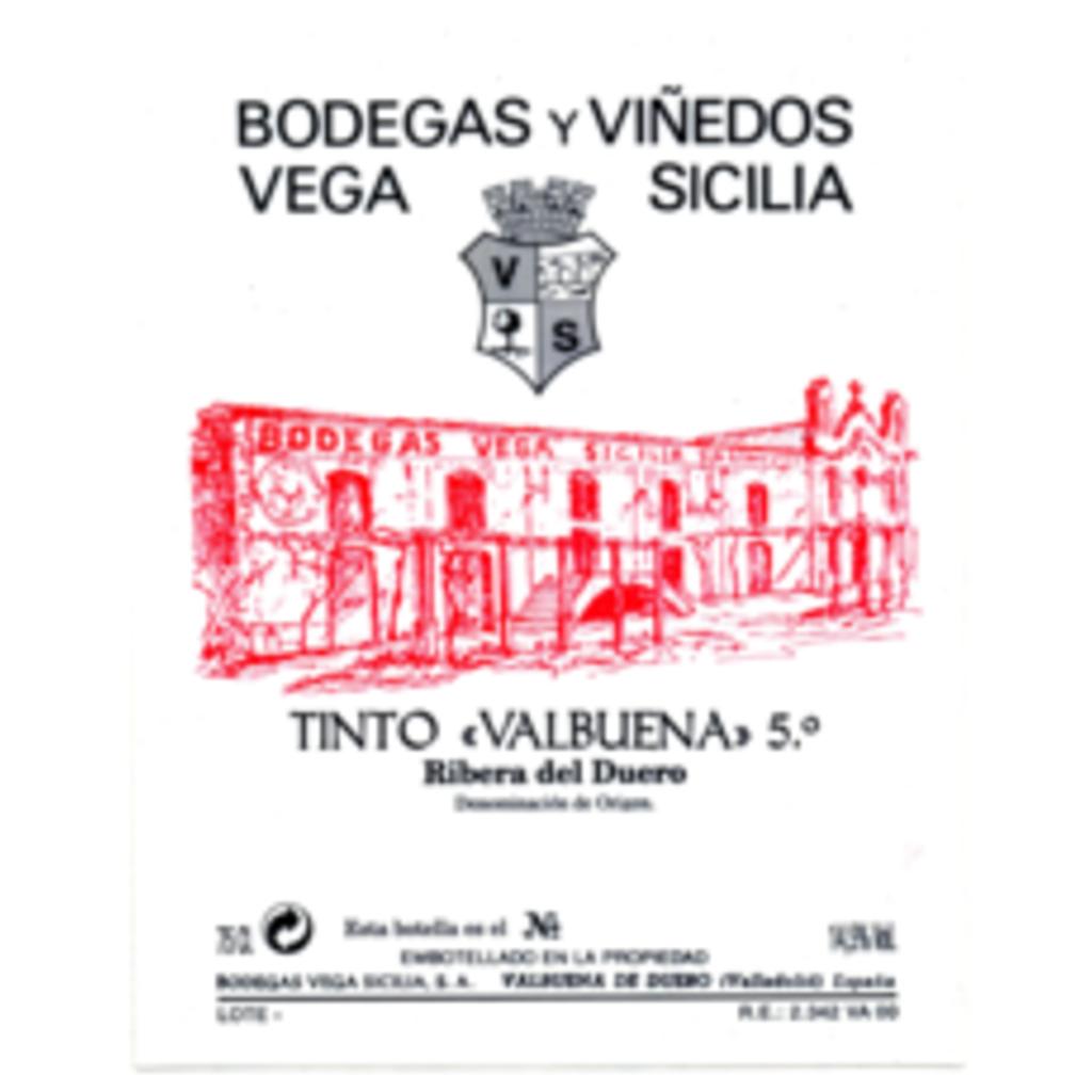"""Vega Sicilia """"Valbuena 5"""" Ribiera del Duero 2016"""