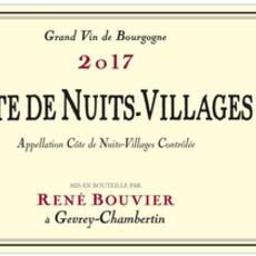 Rene Bouvier Cote de Nuits Villages 2017