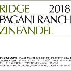 "Ridge Vineyards ""Pagani Ranch"" Zinfandel 2018"