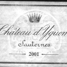 Chateau D'Yquem Sauternes 2001