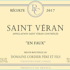 """Domaine Cordier """"En Faux"""" Saint Veran 2018"""