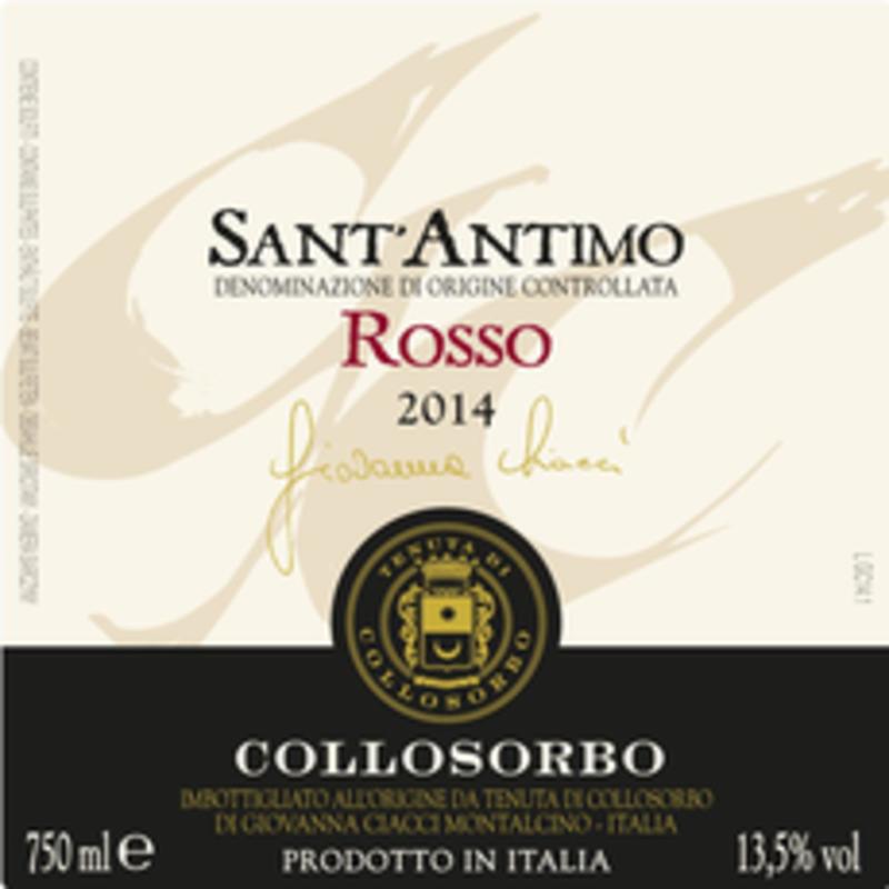 """Collosorbo """"Giovanna Ciacci"""" Sant'Antimo Rosso 2016"""